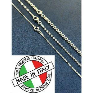 HarlemBling 925 Silver 14k Gold Rolo Necklace